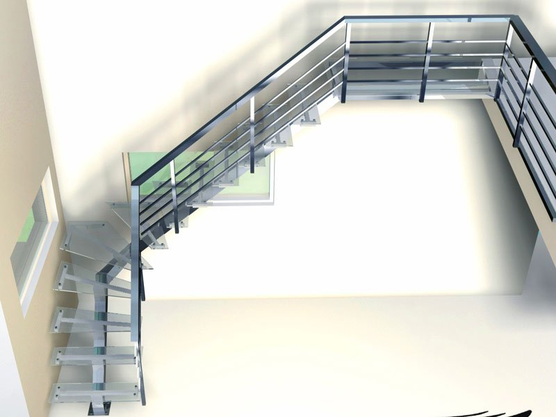 Лестница стеклянная фото